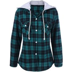 Plaid Shirt Hoodie ($13) ❤ liked on Polyvore featuring tops, hoodies, hoodie shirt, plaid hoodies, blue hooded sweatshirt, plaid shirts and shirt hoodie