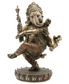 Dancing Ganesh Statue - Cold Cast Bronze by Ganesh Mall    22 customer reviews Price:$62.00 & FREE Shipping. Details Only 6 left in stock. Sold by Cultural Elements and Fulfilled by Amazon. Gift-wrap available.