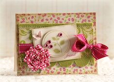 """Love Laura's card layout, particularly the use of the felt piece.  Check out her """"Just Give Me Stamps"""" blog."""