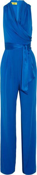 Catherine Malandrino   Silk-blend Crepe Jumpsuit