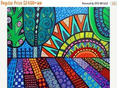 60% Off Today- Tree Folk art Art Print Poster by Heather Galler (HG874)