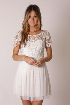 Constance Lace Dress: Ivory - Esther. I absolutely love the clothes on this site. esther.com.au :)