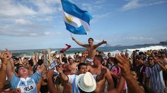 Argentina fans at the World Cup