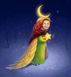 Guardian angel on Behance.  Saffron Milk Catherine Razinkova