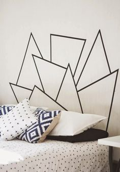 Creative Headboard by Jordan https://www.facebook.com/jordymaysmithdesign?fref=ts