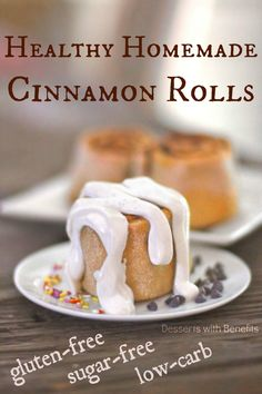 Guilt-Free Low Carb & Gluten Free Cinnamon Rolls… yes, I'm serious! And they're rich, moist, decadent, sweet and oh so heavenly!