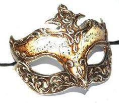 Musical Venetian Masquerade Mask