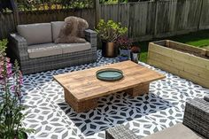 Online shopping for Dining Sets from a great selection at Patio, Lawn & Garden Store. Garden Slabs, Garden Tiles, Patio Slabs, Patio Tiles, Garden Floor, Garden Paving, Concrete Patios, Concrete Flags, Paint Concrete