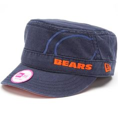 New Era Chicago Bears Women's Goal-To-Go Military Adjustable Hat - Navy Blue