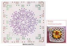 Lindos motivos (squares) com flores centrais, tem PAP.