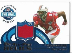 2006 Topps Chris Chambers Authentic Game-Worn Pro-Bowl Jersey Card. #MiamiDolphins