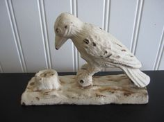 Original Vintage Antique Cast Iron Woodpecker by ArcanaAntiquities