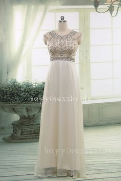 On Sale Long Prom DressBridesmaid Dressbeading by happinessbride
