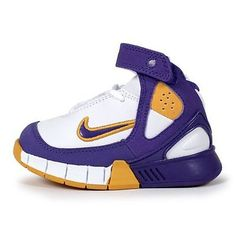 Nike Air Zoom Huarache 2K5 Td Toddler 310874-151 Lakers Shoes Baby Size 2