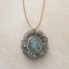 Aqua & Labradorite Cosmos Necklace