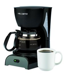 Mr. Coffee DR5 4-Cup Coffeemaker, Black >>> You can find out more details at the link of the image.