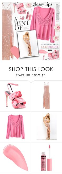 """Glossy lip"" by vanjazivadinovic ❤ liked on Polyvore featuring Marco de Vincenzo, Celestine, Kevyn Aucoin, Charlotte Russe, polyvoreeditorial and zaful"
