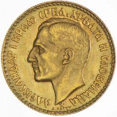 Jugoslawien Yugoslavia 20 Dinara 1925 Gold König Alexander I.
