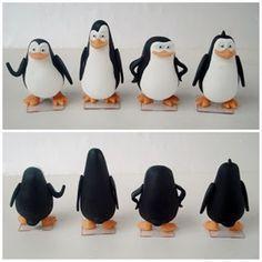 Lembrancinha e topo de bolo - Biscuit Making Of : Pinguins de Madagascar de biscuit - Fernanda de Ol...