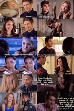 Pretty Little Liars Relationships!!! Spencer, Toby, Hanna, Caleb, Emily, Sarah, Aria, Ezra, Alison, Lorenzo, Mona, & Mike!!!