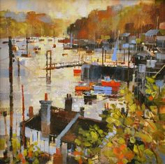 British Artist Chris FORSEY-Into the Sun, Polruan
