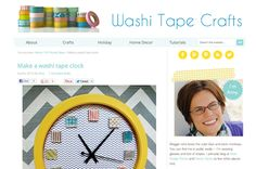 How fun is this? A new blog all about washi tape DIY projects - Washi Tape Crafts!