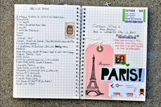 LOVE this idea...a travel/vacation journal