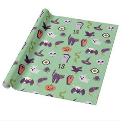 #Halloween Gift Wrapping Paper - #halloween #party #stuff #allhalloween All Hallows' Eve All Saints' Eve #Kids & #Adaults