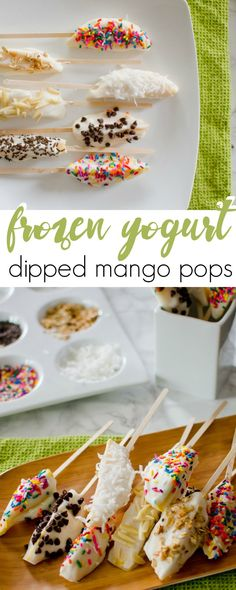 A sweet, frozen treat to cool off with made with mangoes and Greek yogurt!