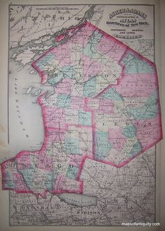 Jefferson, Oswego, and Lewis Counties - Antique Maps and Charts – Original, Vintage, Rare Historical Antique Maps, Charts, Prints, Reproductions of Maps and Charts of Antiquity