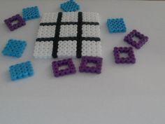 Tijd voor een spelletje !? tic tac toe hama pearler beads strijkkralen