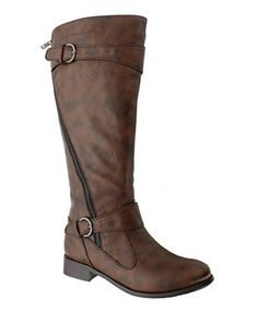Take a look at this Brown Emerson 9 Boot by Pierre Dumas on #zulily today!