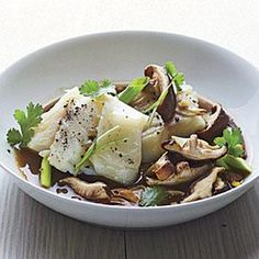 Ready in less than 20 minutes, Poached Cod with Shiitakes steps into weeknight dinner territory. Cod cooks in vibrant broths that go straight from pan to plate for an elegant, fast dinner.