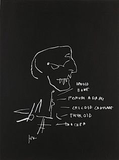 Jean-Michel Basquiat-Jean-Michel Basquiat - Anatomy (Hyoid Bone)-1982