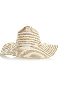 Melissa Odabash Laurianne woven and faille wide-brim hat  0adc2d5eaae6