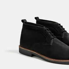BLACK LEATHER DESERT BOOTS-Boots & Ankle Boots-SHOES-MAN | ZARA Hungary