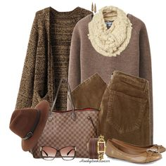 """Casual Browns"" by honkytonkdancer on Polyvore"