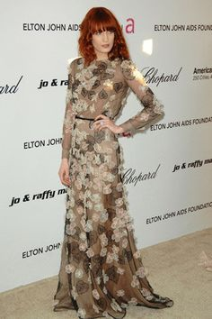 Florence Welch media gallery on Coolspotters. See photos, videos, and links of Florence Welch. Florence Welch Style, Elton John Aids Foundation, Granny Chic, Celebs, Celebrities, Colorful Fashion, African Fashion, Style Icons, Celebrity Style