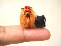 Yorkshire Terrier - miniatura Crochet piccolo cane animali imbalsamati - su ordinazione