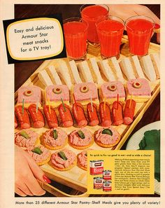 Make these appetizing meat snacks for your TV party guests. How they'll improve any program, because there's nothing like Vienna sausages and tomato juice!