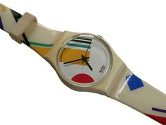 Fashion - this watch looks very 80's and involves line, colour and pattern.