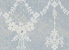 A close up of our Nottingham Curtain pattern Ailsa.