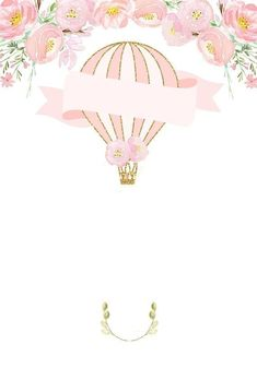 Invitation Background, Balloon Invitation, Baby Shower Invitations, Birthday Invitations, Framed Wallpaper, Baby Album, Baby Shower Balloons, Pretty Wallpapers, Baby Art