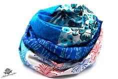 Rundschal von Lieblingsmanufaktur: Farbenfrohe Loop Schals, Tücher und mehr auf DaWanda.com