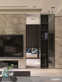 Design ideas.. Condo Living, Living Room Tv, Home And Living, Living Area, Living Spaces, Residential Interior Design, Modern Interior, Interior Architecture, Luxury Living