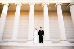 classic museum wedding photography columns at Legion of Honor in San Francisco