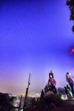 @tebing keraton, bandung, west java, indonesia  Blue sky n shooting star @4.30-5.00 am