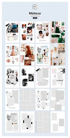 Maltese Mood Board Templates Pack by William Hansen on Creative Market – fashion editorial layout Layout Design, Design De Configuration, Web Design, Design Art, Brand Design, Design Ideas, Instagram Design, Portfolio Design, Fashion Portfolio Layout