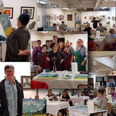 Paint and Sip Fundraising Workshop at RCAA Riverside California, Paper Bowls, Paint And Sip, Artist At Work, Fundraising, Original Art, Photo Wall, Workshop, Fine Art