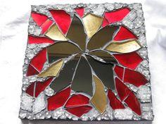 Gold Red Black Mosaic art  Fire dance by Margalita on Etsy, $25.00 #HMCApril @thisartofmineUS